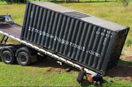 Pyrophone container being loaded