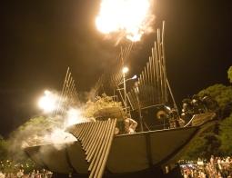 Flaming Finale of the Pyrophone Juggernaut